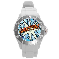 Comic Book Garcon! Round Plastic Sport Watch (L)