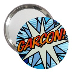 Comic Book Garcon! 3  Handbag Mirrors