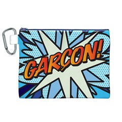 Comic Book Garcon! Canvas Cosmetic Bag (XL)