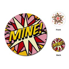 Comic Book Mine! Playing Cards (Round)