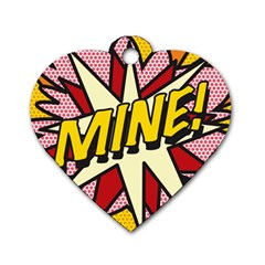 Comic Book Mine! Dog Tag Heart (One Side)