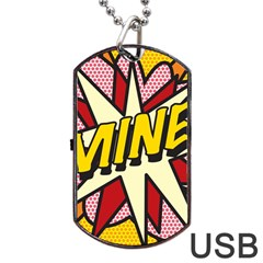 Comic Book Mine! Dog Tag USB Flash (Two Sides)
