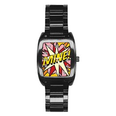 Comic Book Mine! Stainless Steel Barrel Watch