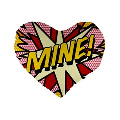 Comic Book Mine! Standard 16  Premium Flano Heart Shape Cushions