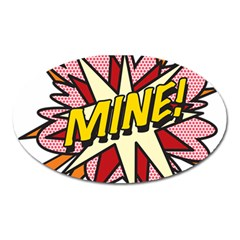 Comic Book Mine! Oval Magnet