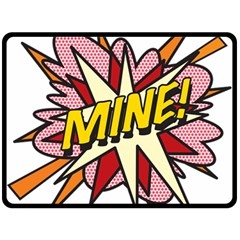Comic Book Mine! Fleece Blanket (large)