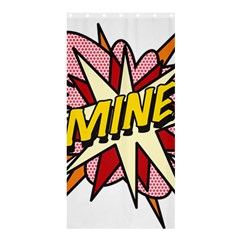 Comic Book Mine! Shower Curtain 36  x 72  (Stall)