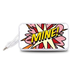 Comic Book Mine! Portable Speaker (White)