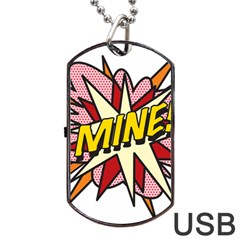Comic Book Mine! Dog Tag USB Flash (One Side)