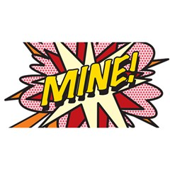 Comic Book Mine! You Are Invited 3d Greeting Card (8x4)