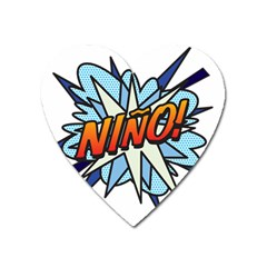 Comic Book Nino! Heart Magnet