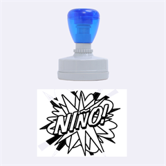 Comic Book Nino! Rubber Oval Stamps