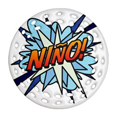 Comic Book Nino! Ornament (Round Filigree)