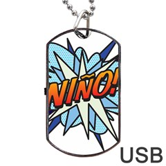 Comic Book Nino! Dog Tag Usb Flash (one Side)