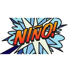 Comic Book Nino! YOU ARE INVITED 3D Greeting Card (8x4)
