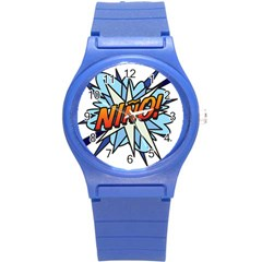 Comic Book Nino! Round Plastic Sport Watch (S)