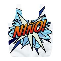 Comic Book Nino! Full Print Recycle Bags (L)