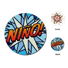 Comic Book Nino! Playing Cards (Round)