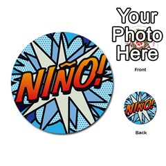 Comic Book Nino! Multi-purpose Cards (Round)