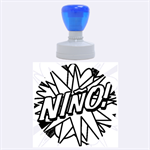 Comic Book Nino! Rubber Round Stamps (Large) 1.875 x1.875  Stamp