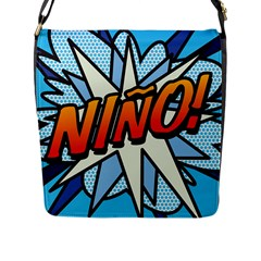 Comic Book Nino! Flap Messenger Bag (L)