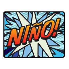 Comic Book Nino! Double Sided Fleece Blanket (Small)