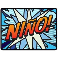 Comic Book Nino! Double Sided Fleece Blanket (Large)