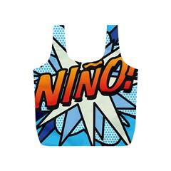 Comic Book Nino! Full Print Recycle Bags (S)