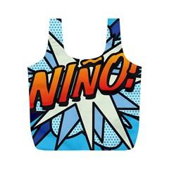 Comic Book Nino! Full Print Recycle Bags (M)