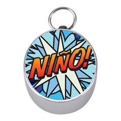 Comic Book Nino! Mini Silver Compasses