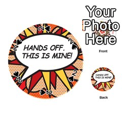 Hands Off. This is mine! Playing Cards 54 (Round)