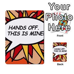 Hands Off. This is mine! Multi-purpose Cards (Rectangle)