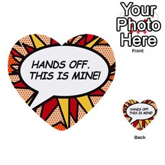 Hands Off  This Is Mine! Multi Purpose Cards (heart)
