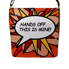 Hands Off. This is mine! Flap Messenger Bag (L)