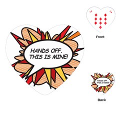 Hands Off Playing Cards (Heart)