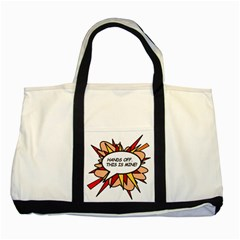 Hands Off Two Tone Tote Bag