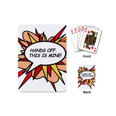 Hands Off Playing Cards (Mini)