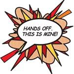 Hands Off BEST BRO 3D Greeting Card (8x4)  Inside