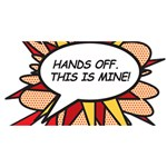 Hands Off BEST BRO 3D Greeting Card (8x4)  Back