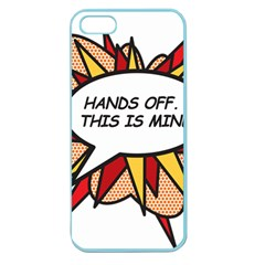 Hands Off Apple Seamless iPhone 5 Case (Color)