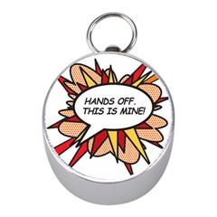 Hands Off Mini Silver Compasses