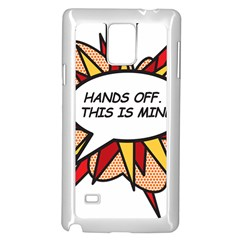 Hands Off Samsung Galaxy Note 4 Case (White)