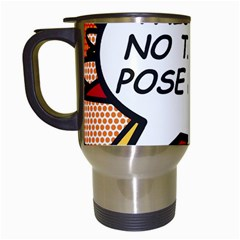 Comic Book This Is No Time To Pose Baby Travel Mugs (White)