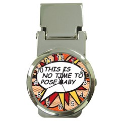 Comic Book This Is No Time To Pose Baby Money Clip Watches