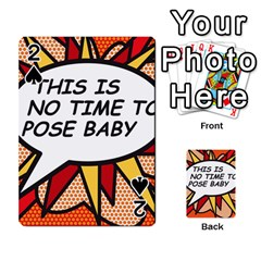 Comic Book This Is No Time To Pose Baby Playing Cards 54 Designs