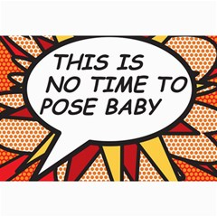 Comic Book This Is No Time To Pose Baby Collage 12  x 18