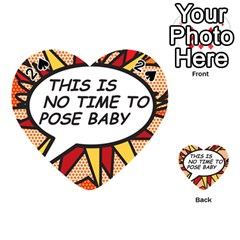Comic Book This Is No Time To Pose Baby Playing Cards 54 (heart)