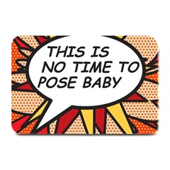 Comic Book This Is No Time To Pose Baby Plate Mats