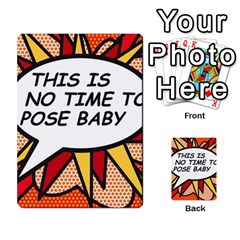 Comic Book This Is No Time To Pose Baby Multi Purpose Cards (rectangle)