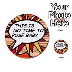 Comic Book This Is No Time To Pose Baby Multi Purpose Cards (round)